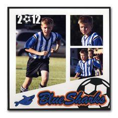 Blue Sharks Soccer Kid Cameo Layout