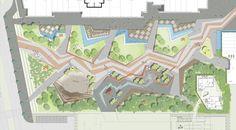Toward An Urban Ecology Scape / Landscape Architecture Landscape Plane, Landscape Architecture Drawing, Landscape Design Plans, Landscape Concept, Urban Landscape, Parque Linear, Plaza Design, Urban Design Diagram, Urban Park