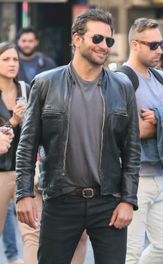 Swoon alert: Bradley Cooper in a leather jacket is our everything!