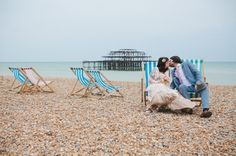 A Beautiful, Pregnant Bride And Her 1930′s 'Louche Glamour' Inspired Brighton Pier Wedding… | Love My Dress® UK Wedding Blog