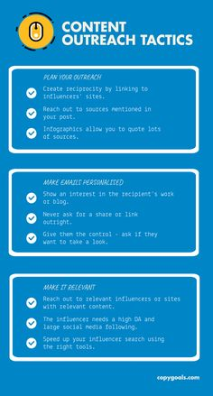 Get shares and links using these proven content outreach tactics. Detailed information on how to make your oureach campaign successful every time! How To Plan, How To Make, Infographic, Campaign, Success, Goals, Content, Marketing