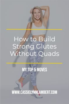 If you're wondering how to build strong glutes without quads, I've got you covered. I'm sharing my 5 favorite moves for building strong glutes without growing your quads. Weight Lifting Tips, Weight Training, Gain Muscle, Build Muscle, Hip Workout, Workouts, You Fitness, Fitness Tips, Bulk Up