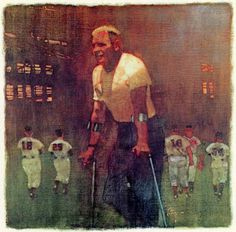 "Bernie Fuchs painting of Bill Veeck, a franchise owner and promoter in Major League Baseball, for an SI story ""No Return"""