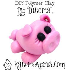 Polymer Clay Pig Tutorial - Also for Fondant Sugar by KatersAcres
