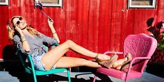 Model Martha Hunt flaunts her legs in Jessica Simpson Collection spring-summer 2018 campaign