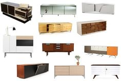 """A sampling of sideboards & credenzas from Stylecarrot.com's """"Get the Look: 53 Sideboards, Credenzas, Buffets"""""""
