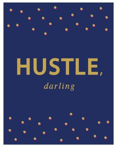 8.5 x 11 Hustle Darling Navy Gold & Hot by TheSmittenCollection