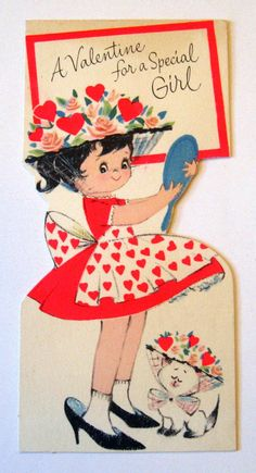 Vintage Valentine Card. We used to give out many valentines to our school friends. B.