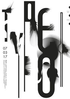 """type on"" by burkhardthauke / germany, 2017 / offset, 594 x 841 mm"
