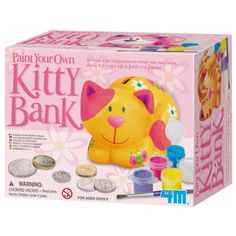 4M Paint Your Own Kitty Bank *** Check this awesome product by going to the link at the image.