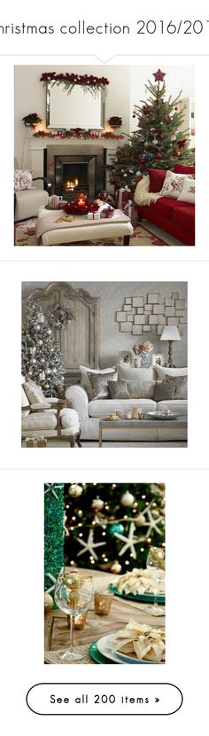 """""""Christmas collection 2016/2017."""" by qamar-fashionista ❤ liked on Polyvore featuring home, home decor, holiday decorations, christmas, pictures, winter, backgrounds, christmas home decor, christmas holiday decor and christmas holiday decorations"""