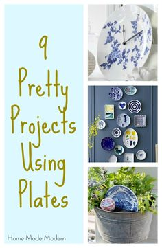 upcycle plates into gorgeous home decor using these tips and tricks