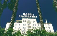 The stately elegance of the facade of Hollywood Roosevelt in Los Angeles