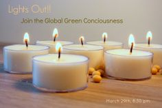 Earth Hour 2014! - An evening by candlelight with eco friendly candles! www.naturasoy.ca #NaturaSoyCandles