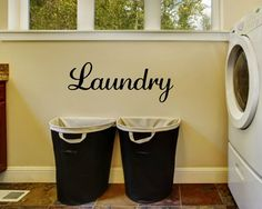 Laundry Decal Laundry Wall Decal Laundry by RunWildVinylDesigns