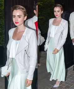 Lily Collins in Houghton. Styled by #RandM.