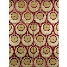 An Ottoman voided silk velvet and metal thread çatma panel, Bursa or Istanbul, Turkey, late 16th/early 17th century. Motifs Textiles, Weaving Textiles, Textile Fabrics, Textile Patterns, Textile Design, Textile Art, Fabric Design, Fabric Ottoman, Costume Tribal