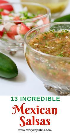 13 Incredible Mexican Salsas A roundup of 13 varied and incredible Mexican salsas from top Mexican f Authentic Mexican Recipes, Mexican Salsa Recipes, Mexican Dishes, Homemade Mexican Salsa, Authentic Salsa Recipe, Spanish Salsa Recipe, Homemade Salsa Recipes, Mexican Hot Sauce Recipe, Cooked Salsa Recipe