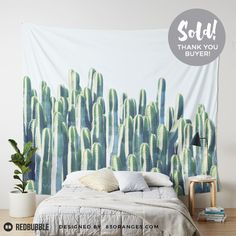 Just sold a Wall Tapestry of my artwork titled 'Cactus V2'! Order yours or see all #redbubble products carrying this design here: http://www.redbubble.com/people/83oranges/works/23359006-cactus-and-teal-redbubble-lifestyle?p=tapestry&size=large