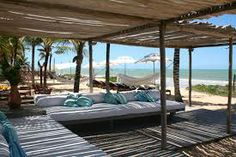 Villas de Trancoso beach - Villas de Trancoso, in Bahia, Brazil Outdoor Lounge, Outdoor Spaces, Outdoor Living, Outdoor Decor, Outdoor Cabana, Pool Bar, Pergola, Beach Club, Rio Grande