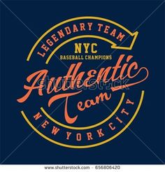 graphic for shirt and print LEGENDARY TEAM NYC AUTHENTIC