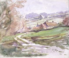 ''A path near Sidmouth'' by Beatrix Potter - Potter conceived 'The Tale of Little Pig Robinson' (published in 1930) while on a family holiday to south Devon in 1883. The story takes place in the 'pretty little town' of 'Stymouth' - a fictional blend of Sidmouth and Teignmouth in south Devon and Lyme Regis in Dorset. Despite containing predominantly black and white line illustrations the story is one of Potter's most colourful stories.