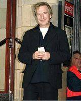 Alan Rickman attends a Madonna concert at London's Brixton Academy. November 28, 2008 photo: Justin Goff