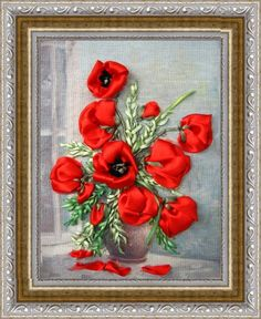 RP: Ribbon Embroidery: Red Poppies by Картинка
