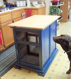 A kitchen island from two old nightstands - Genius! (from Make the Best of Things blog)