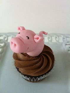 Piggy cupcake! No recipe, just picture.