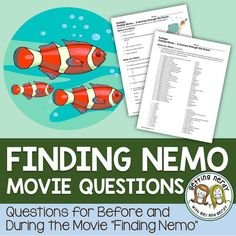 english worksheet finding nemo film activity english resources pinterest finding nemo. Black Bedroom Furniture Sets. Home Design Ideas