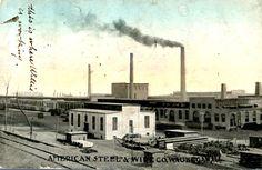 American steel wire company Waukegan Illinois postcard 1909