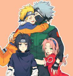 Naruto Uzumaki Shippuden, Naruto And Sasuke, Boruto, Naruto Team 7, Naruto Shippuden Characters, Kakashi Sensei, Wallpaper Naruto Shippuden, Naruto Cute, Naruto Funny