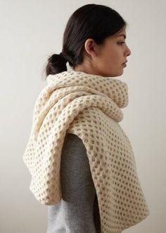Honeycomb Wrap | Free Knitting Pattern by Purl Soho