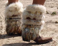 ¡Listo ahora! ALTURA altura completo reciclado estilo REWORKED vintage botas vaqueras - boho botas botas altas cuero - Bota Vaquera-