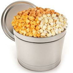 Triple Cheddar Popcorn Tin (White Cheddar, Spicy Cheddar, and Cheesy Cheddar)