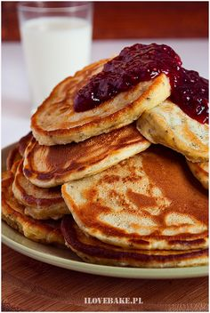 Placuszki z chia - I Love Bake Nutella, Oreo, Pancakes, Snacks, Chocolate, Baking, Breakfast, Food, Lifestyle