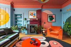 Living Room Interior, Living Room Decor, Interior Livingroom, Living Rooms, Colourful Living Room, Cheap Home Decor, Colorful Interiors, Colorful Interior Design, My Room