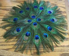16 Peacock Feather Placemat by meghanstonedesigns on Etsy, $28.00