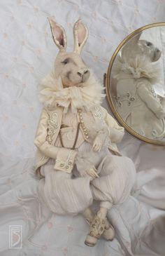 Коллекционные куклы ручной работы. Заказать кролик Эдвард. светлана фадеева. Ярмарка Мастеров. Бежевый, экрю