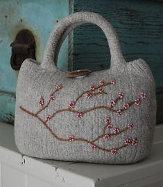 Ravelry: Little Cherry Blossoms Bag pattern by Heidi Hirtle