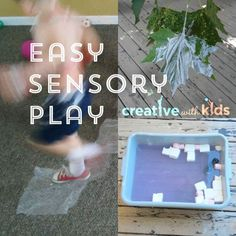 These easy sensory play ideas get kids engaged having fun and take supplies you probably have on hand.