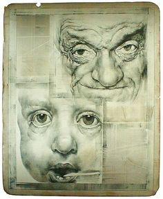 Interesting Art by Oldrich Kulhanek pics) Decay Art, Nostalgia Art, Art Alevel, Gcse Art, Human Art, High Art, Elements Of Art, Art Portfolio, Portrait Art