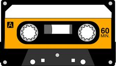 Cassette Tape by @algotruneman, Once popular magnetic tape recording format for voice, music and even software., on @openclipart