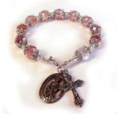 Genuine Pink AB Swarovski Crystal Antique Silver by IslandGirl77