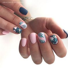 – Trending Summer Nail Designs For Short Nails – Nail Art Connect – Nail Art Ideas 2020 Nail Art Cute, Cute Acrylic Nails, Cute Nails, Pretty Nails, Creative Nail Designs, Creative Nails, Nail Art Designs, Nails Design, Square Nail Designs