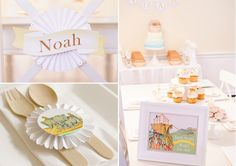 Noah's Ark Themed Birthday Party  Styling by Kate Landers, Paper Products shown by Loralee Lewis, www.LoraleeLewis.com