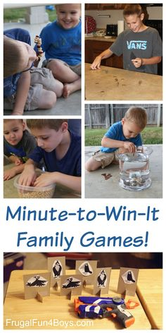 Here are some fun Minute-to-Win-It style games that the whole family will enjoy!  For this post, we chose games that are easy to set up with simple materials and that appeal to a wide variety of ages.  My boys love silly stuff like this! Game #1:  Eat Like a Bird For this game, I used …