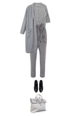 """""""this hour."""" by sharplilteeth ❤ liked on Polyvore featuring Margaret Howell, Vivienne Westwood Anglomania, Calvin Klein Collection, 3.1 Phillip Lim, WorkWear, minimal and grey"""