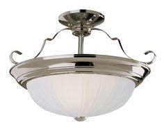 Indoor Energy Star Fluorescent Semi Flush Moun